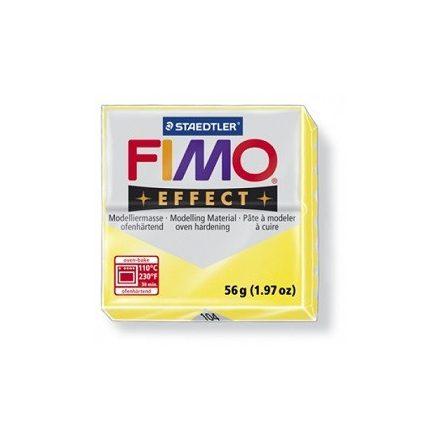 FIMO effect gyurma - Áttetsző sárga