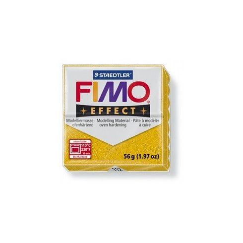 FIMO effect gyurma - Csillámos arany