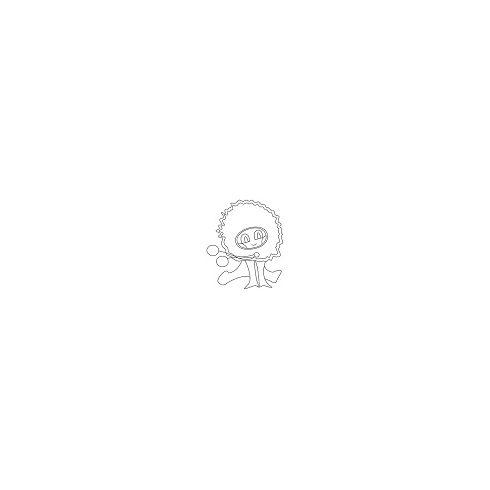 Színes fa gyöngyök - pink - 6mm