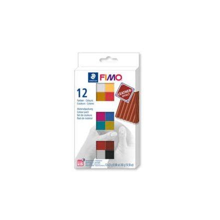 Fimo gyurmakészlet  - 12x25g - Leather - Bőrhatás szett
