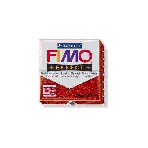 FIMO effect gyurma - Csillámos piros