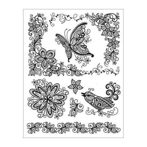 Szilikon pecsételő 14x18cm - Pillangó