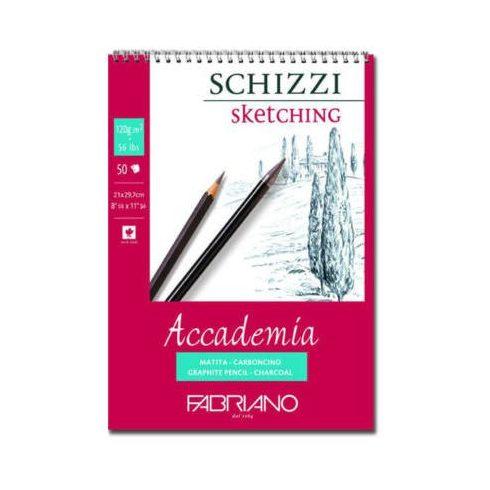 Fabriano Accademia rajz- és vázlat füzet, 120 g, spirálos A4