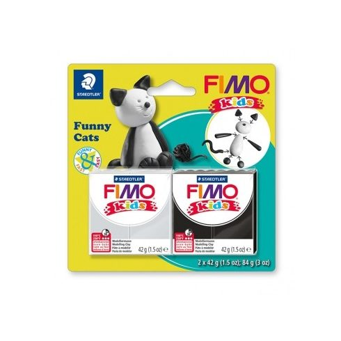 Fimo-Kids gyurmakészlet  - 2x42g - Vicces cica