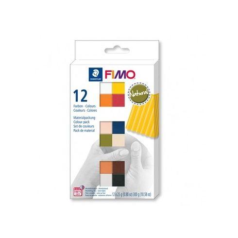 Fimo gyurmakészlet  - 12x25g - Natúr színek