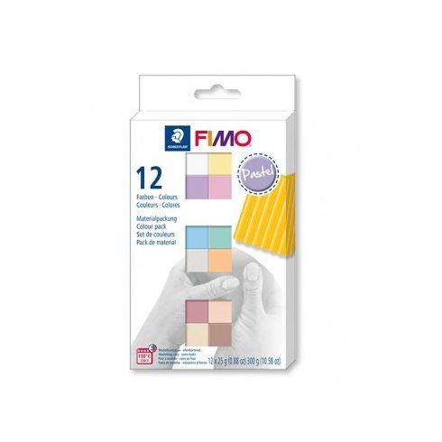 Fimo gyurmakészlet  - 12x25g - Pasztel színek