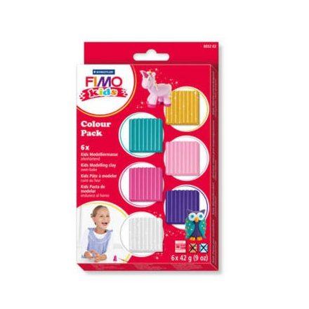 Fimo-Kids gyurmakészlet, Color Pack - 6X42g - Lányoknak