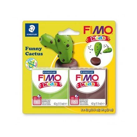 Fimo-Kids gyurmakészlet  - 2x42g - Vicces kaktusz