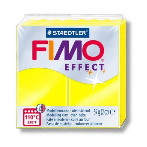 FIMO effect gyurma -neonsárga
