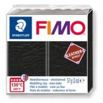 FIMO Leather effect gyurma - Fekete