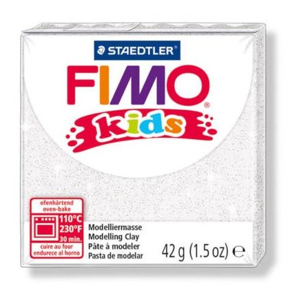 FIMO Kids gyurma - 42g - glitter fehér