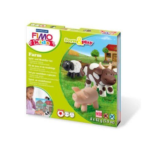Fimo-Kids gyurmakészlet, Form&Play - 4X42g - Farm