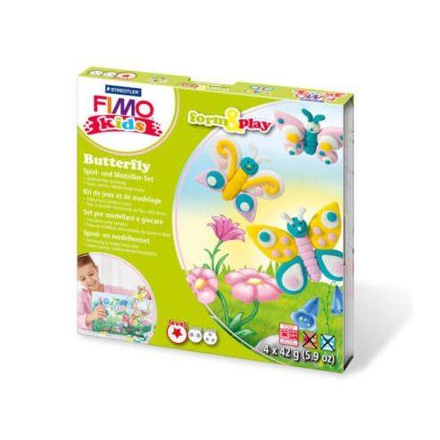 Fimo-Kids gyurmakészlet, Form&Play - 4X42g - Pillangók
