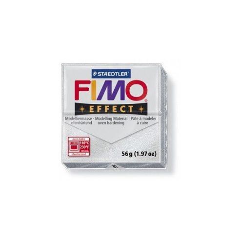FIMO effect gyurma - Metál ezüst