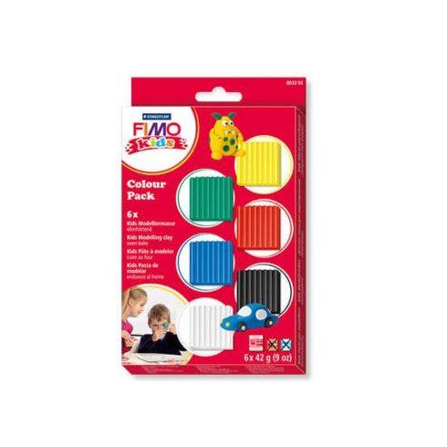 Fimo-Kids gyurmakészlet, Color Pack - 6X42g - Alapszínek