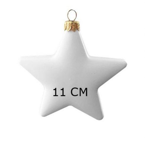Műanyag karácsonyfadísz - Csillag