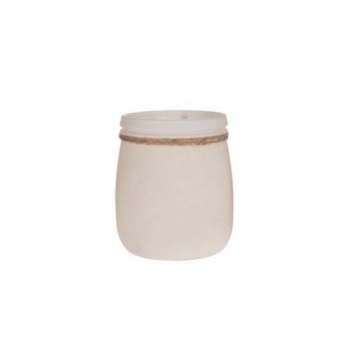 Üveg mécsestartó - fehér