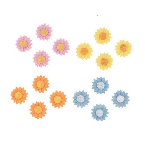 Színes virágok poly - 16db