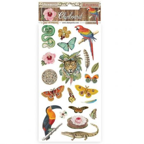 Stamperia chipboard - Amazónia