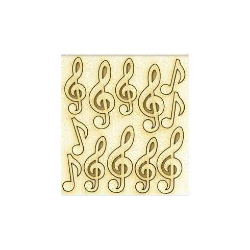 Chipboard - Papír dekoráció - Violinkulcsok