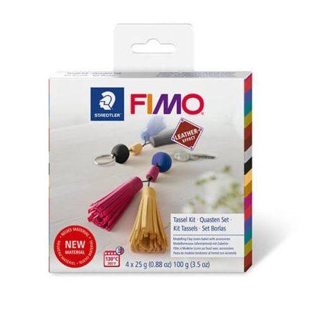 FIMO Leather Effect süthető gyurma készlet, 4x25 g - Kulcstartó