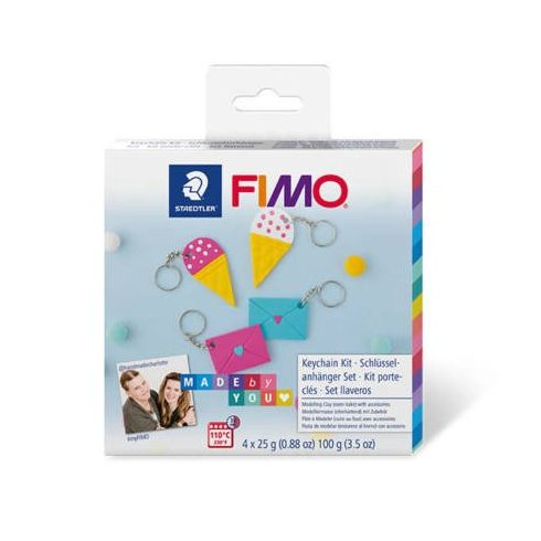 FIMO Soft DIY süthető gyurma készlet, 4x25 g - Kulcstartó