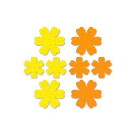 Filc díszek - Virágok - sárga