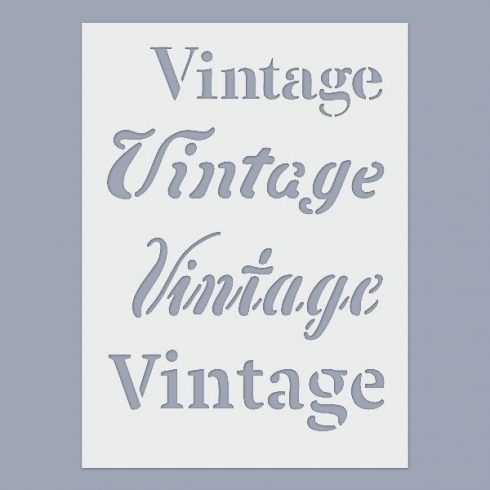 Stencil - Vintage -15x20cm