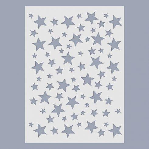 Stencil - csillagok -15x20cm