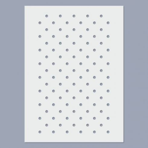 Stencil - Kis pöttyös -15x20cm