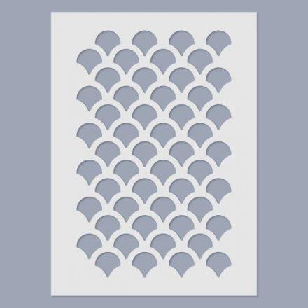 Stencil - Halpikkely -15x20cm