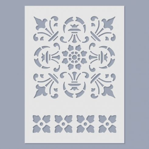 Stencil - Csempe -15x20cm