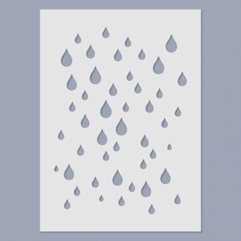 Stencil - Eső -15x20cm