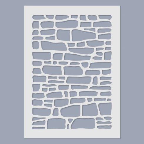 Stencil - Kőfal -15x20cm
