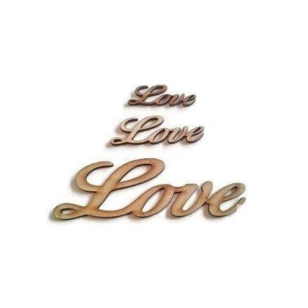 fa felirat - Love - közepes