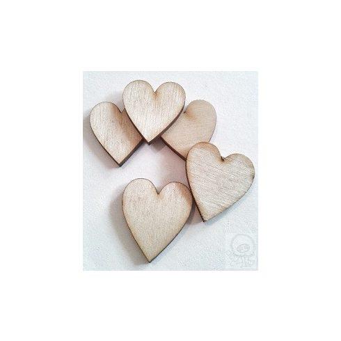 Fa figura - szív mini - 30db