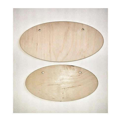Ovál fa tábla - 12x24cm