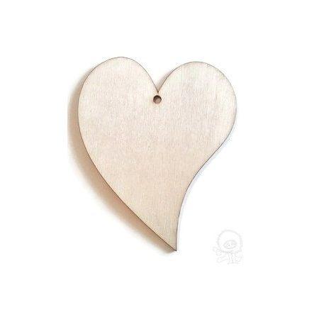 Fa lap - francia szív-nagy