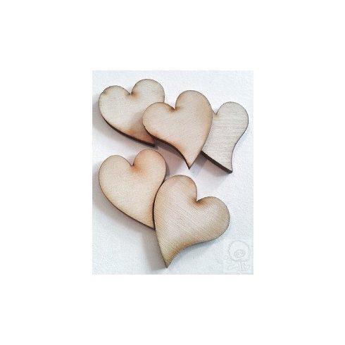 Fa figura - francia szív mini - 30db