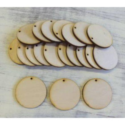 Fa lapok - körlap lyukkal 4cm - 20db