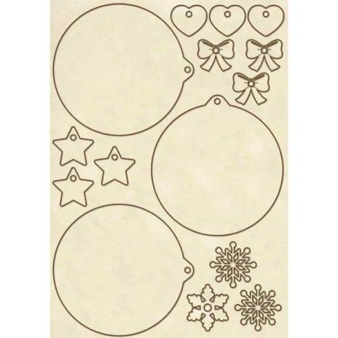Stamperia chipboard - Karácsony