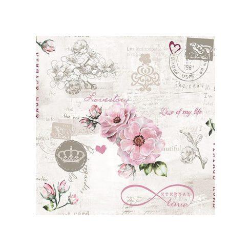 Virágos szalvéta - Örök szerelem
