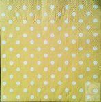 Szalvéta normál méretű (33X33cm) -  Pöttyös sárga