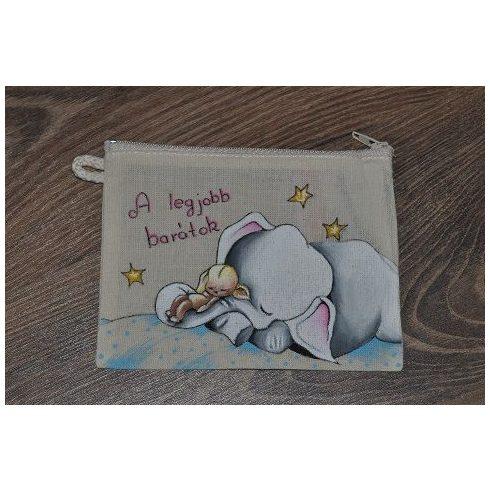 Textil tartó - festett kiselefánt - ÖTLET