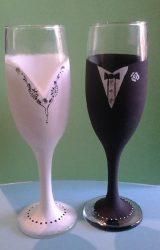 Esküvői pohár -Szükséges alapanyagok