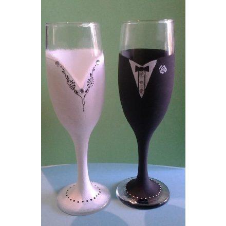 Esküvői pohár -Szükséges alapanyagok - ÖTLET
