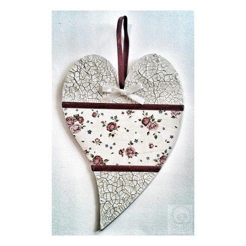 Virágos függődísz - szív - ÖTLET