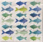 Decoupage szalvéta halacskák