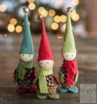 Karácsonyi manó filcből - 5 manóra