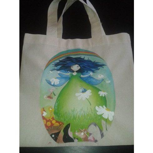 Textil táska - festett meselány - ÖTLET
